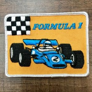 Vintage Formula 1 One Race Car Vest Patch